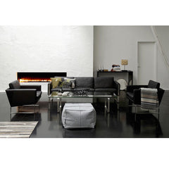 Wegner Black Leather Club Chairs and Sofa in Room Carl Hansen & Son