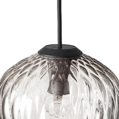 SW4 Blown Pendant Light Silver Lustre Mouthblown Glass Detail