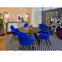 Blue Eames Organic Conference Chairs in Room at CasaVitra Salone di Mobile 2016