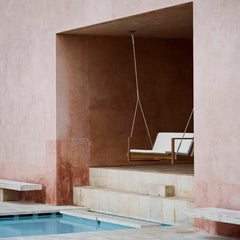 Bodil Kjaer Teak Outdoor Swing by Pool Carl Hansen and Son Outdoor Furniture