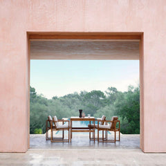 Teak Dining Table and Chairs outdoors by Bodil Kjaer for Carl Hansen and Son