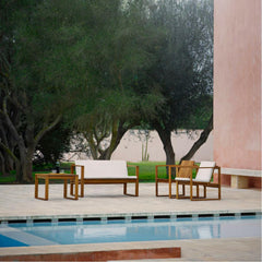 Bodil Kjaer Teak Lounge Chairs by Pool Carl Hansen and Son Outdoor Collection