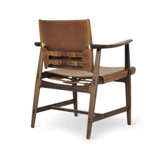 Borge Mogensen Huntsman Chair Cognac Leather and Oiled Walnut Back Carl Hansen & Son