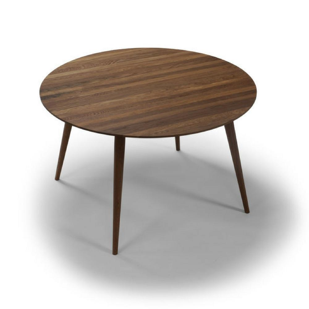 bruunmunch PLAY dinner Table Fixed in Walnut Top Detail