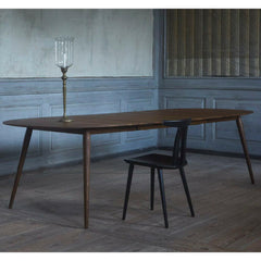 bruunmunch PLAY Lame Dining Table in room with Poul Volther J111 Chair