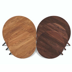 bruunmunch PLAY Round coffee tables oak and walnut