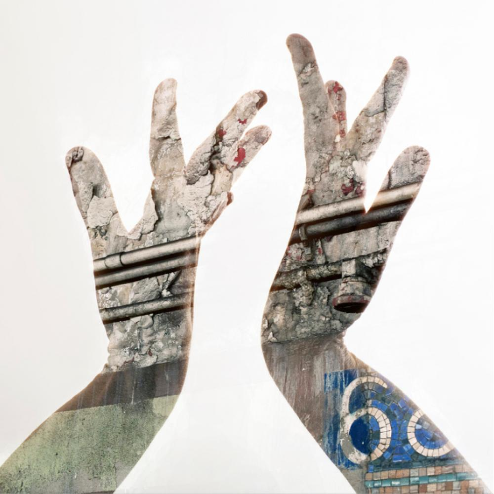 Cameron Pappas Photography Double Exposure City Hands