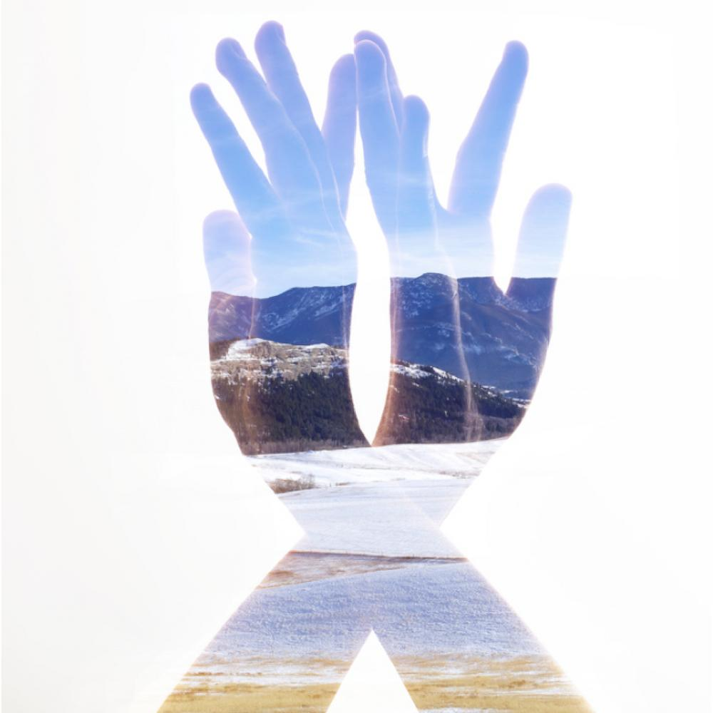 Cameron Pappas Photography Double Exposure Mountain Hands