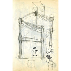 Fritz Hansen Carimate Chair by Vico Magistretti Original Sketches