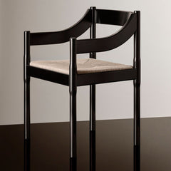 Fritz Hansen Carimate Chair by Vico Magistretti Black Styled