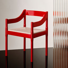 Fritz Hansen Carimate Chair by Vico Magistretti Red Styled