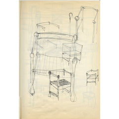 Vico Magistretti Carimate Chair Ideas Original Design Sketches