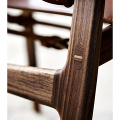 Borge Mogensen Huntsman Chair Walnut Mortise and Tenon Joinery Detail Carl Hansen & Son