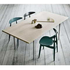 Wegner green lacquer CH33 Dining Chairs and Table in Room Carl Hansen and Son