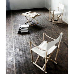 Mogens Koch Folding Chairs in Room with Tray Table