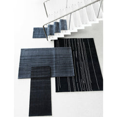 Carl Hansen Woodlines Rug Grey and Black in Room by Naja Utzon Popov