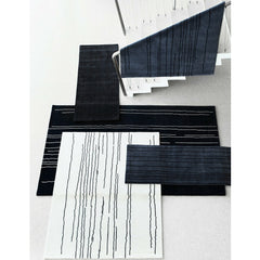 Carl Hansen Woodlines Rug Collection Grey Black on Stairs Naja Utzon Popov