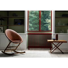 Anker Bok Rocking Chair in room with Mogens Koch Folding Table Carl Hansen and Son