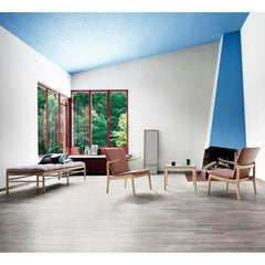 Carl Hansen and Son Beak Chairs by Ole Wanscher in room with Daybed