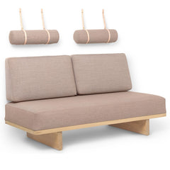 BM0865 Daybed with 2 Back Cushions and 2 Round Cushions by Borge Mogensen for Carl Hansen and Son
