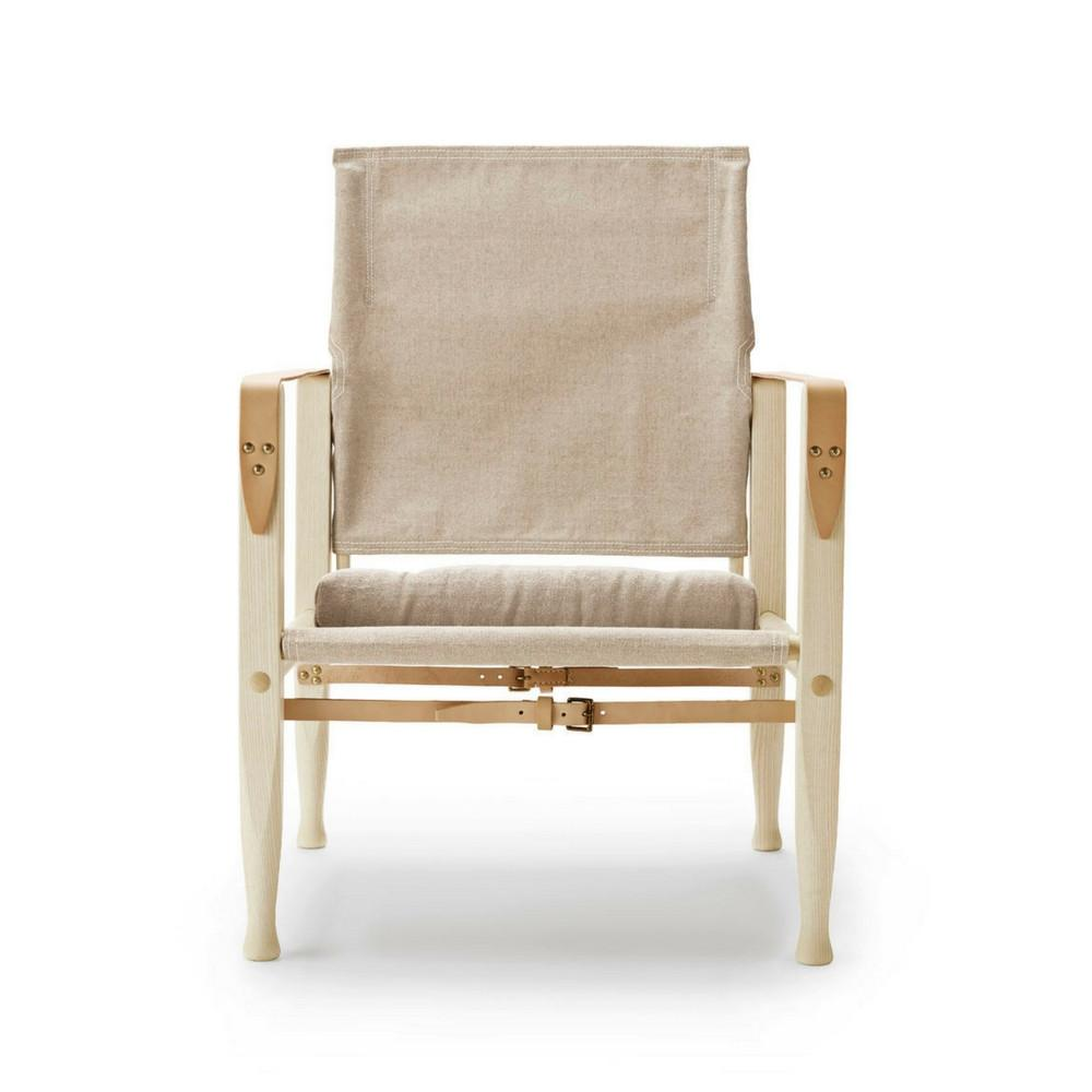 Kaare Klint Safari Chair in Ash Oil with Natural Canvas
