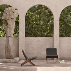 Carl Hansen MG501 Cuba Outdoor Chairs by Morten Gottler in situ