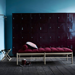 OW150 Daybed by Ole Wanscher for Carl Hansen and Son Styled with Kvadrat Hallingdal 65 694 Cushion