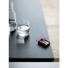 Cecile Manz Essay Table Black Extension Leaf Fritz Hansen