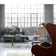 Cecilie Manz CM12 Essay Table with Extension Leaves Series 7 Chairs Egg Chair Fritz Hansen