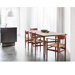 Hans Wegner CH36 Dining Chairs and CH37 Dining Chairs in Kitchen with Wegner Dining Table Carl Hansen and Son