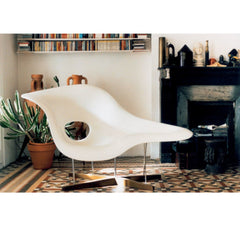 Charles and Ray Eames La Chaise White In Room Vitra