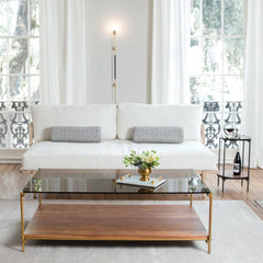 Collins Coffee Table by Katy Skelton for Charleston Forge in Living Room with Collins Drink Table