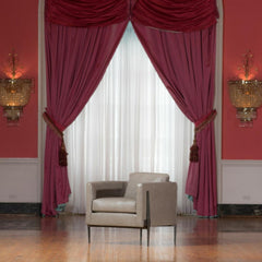 Charleston Forge Springhouse Lounge Chair at the Greenbrier with Crystal Sconces