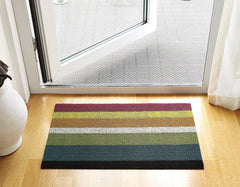 Chilewich Bold Stripe Multi Shag Mat in Entryway