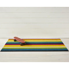 Chilewich Bold Stripe Multi Doormat with Skateboard