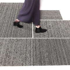 Chilewich Heathered Black Tan Shag Indoor/Outdoor Floor Mats