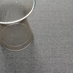 Chilewich Heathered Shag Floor Mat with Knoll Platner Side Table