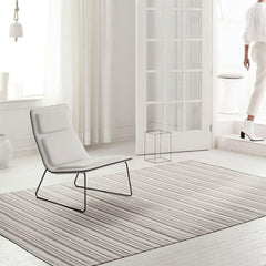 Chilewich Heddle Floor Mat in Pebble Styled in Room