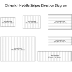 Chilewich Heddle Stripes Direction Diagram