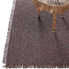 Sangria Market Fringe Woven Floor Mat by Chilewich