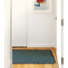 Pacific Market Fringe Woven Floor Runner by Chilewich in Hallway
