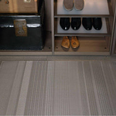Chilewich Mixed Weave Floor Mat in Topaz with Shoe Rack