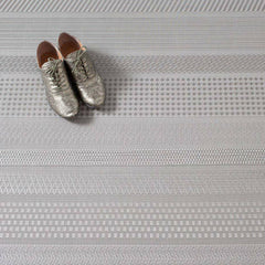Chilewich Topaz Mixed Weave Floor Mat with shoes
