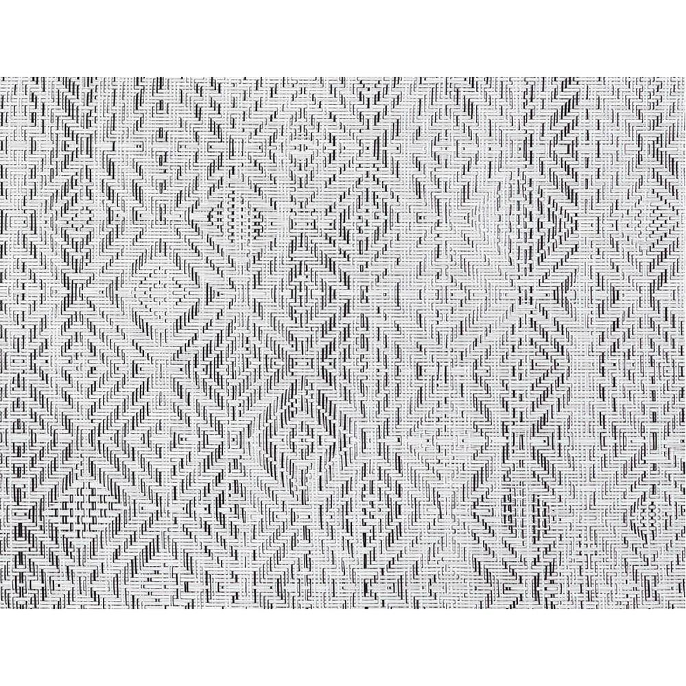 Chilewich Mosaic Floor Mat in White/Black
