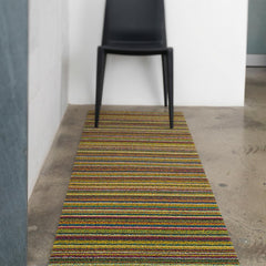 Chilewich Bright Multi Shag Runner with Bellini Chair
