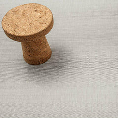Chilewich Wave Floor Mat in Grey with Vitra Jasper Morrison Cork Stool