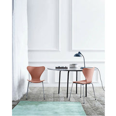Christian Dell Kaiser Idell Tillable Tablelamp 6556T Dark Blue with Arne Jacobsen Series 7 with Tal R color Fritz Hansen