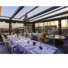 Patricia Urquiola Comback Chairs in Rooftop Restaurant Kartell