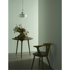 Copenhagen Pendant SC7Matte White with In Between Dining Table and Chair by Space Copenhagen for & Tradition
