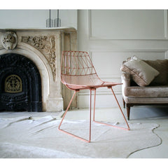 Bend Lucy Copper Chair in Room with Cowhide